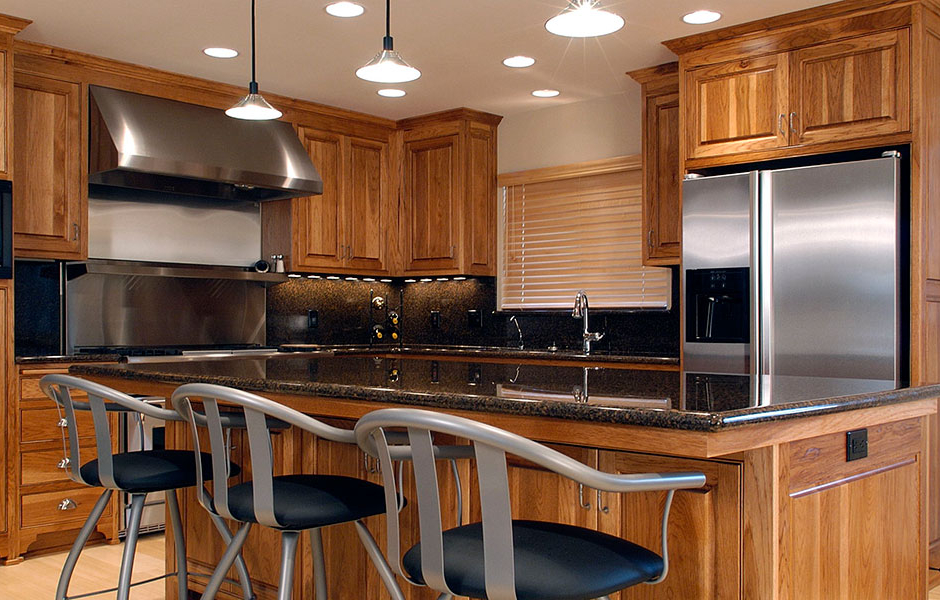 Superieur Custom Hickory Flush Inset Kitchen Cabinetry